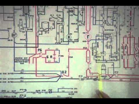ТЭМ2 электр.схема 1.7 Реле