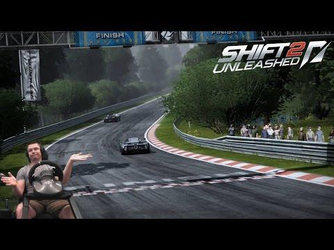 Nurburgring Nordschleife на модерн А космолётах (Bugatti Veyron) NFS Shift 2 Unleashed