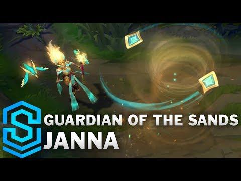 Guardian of the Sands Janna Skin Spotlight - League of Legends