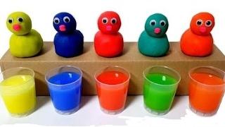 Apprenez des couleurs avec des poules d'oeufs surprenants pour les enfants, les tout-petits Appren