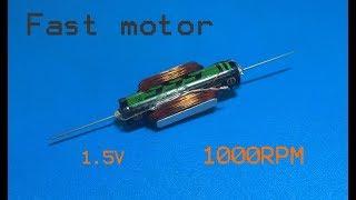 Geweldig 1000TPM borstelloze motor met kleine AAA-1. 5v batterij