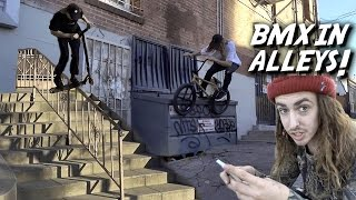 BRANDON BEGIN & REED STARK  BMX ANTICS!