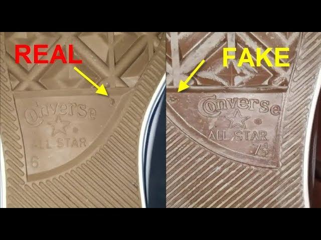 Converse All Star shoes real vs fake