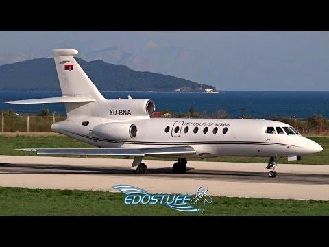 Serbia Government Dassault Falcon 50 YU-BNA - Takeoff from Split Airport LDSP/SPU