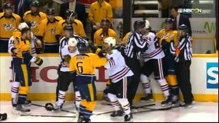 Roman Josi wicked wristah goal 2-1 Chicago Blackhawks vs Nashville Predators April 17 2015 NHL