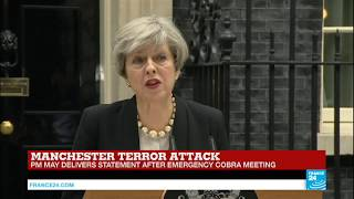 Manchester Terror Attack  PM May delivers statement after COBRA meeting