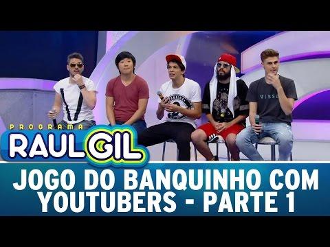 Programa Raul Gil (30/04/16) - Jogo do Banquinho com Youtubers - Parte 1