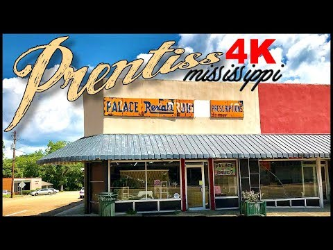 PRENTISS MISSISSIPPI DOWNTOWN DRIVE IN 4K