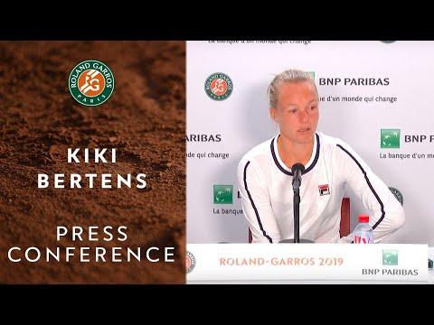 Kiki Bertens - Press Conference after her retired against Viktoria Kuzmova | Roland-Garros 2019