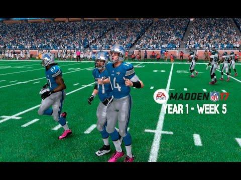 Madden 17 Franchise: Detroit Lions | Y1, W5 vs. Eagles