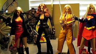 Hot Toys custom FEMALE HEROES! KILL BILL BRIDE, RESIDENT EVIL ALICE, SUPERGIRL, & BLACK WIDOW