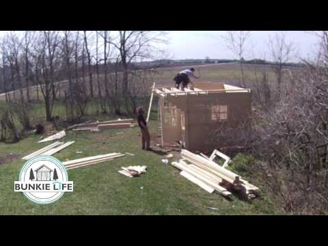 Bunkie Build in 5 Hours -  Time Lapse Video