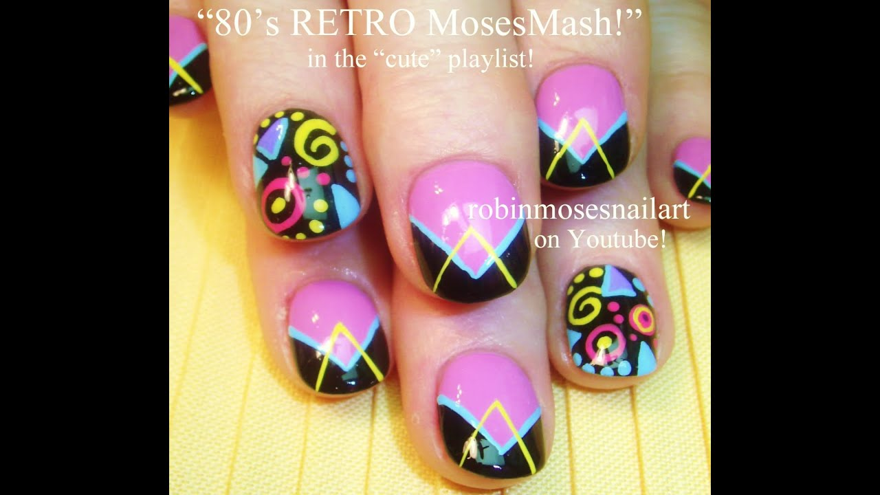 Nail Art Bright And Fun Nails Design Tutorial 1980 S Inspired You