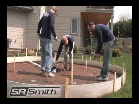 Backyard Splash Pad Cost wetdek backyard splash pad installation (stand alone) - youtube