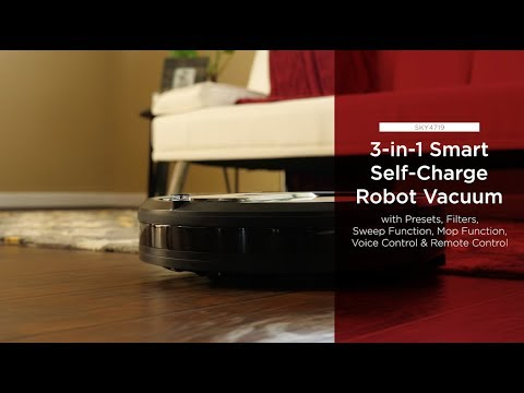 SKY4719 3-in-1 Smart Self-Charge Robot Vacuum