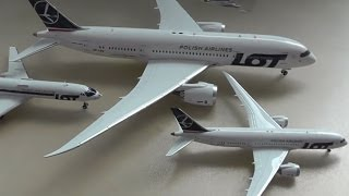 Unboxing. New models to my collection. 2x Boeing 787 and Tu-134A