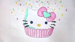 Hello Kitty Cupcake Coloring Pages : Category learn cat coloring pages auclip hot movie