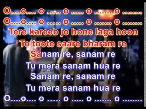 Sanam Re karaoke