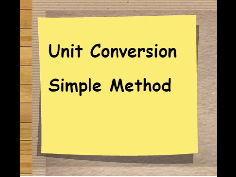 You won't believe how easy this is-Unit Conversion-Easy Method