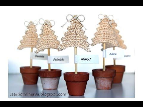 Albero Di Natale Alluncinetto Semplicissimo.Albero Di Natale All Uncinetto Semplicissimo Crochet Christmas Tree