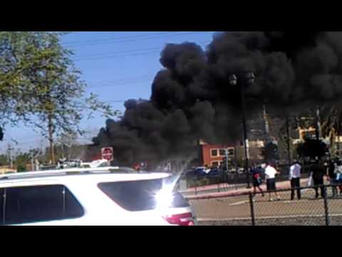 Party bus on fire in San Diego California