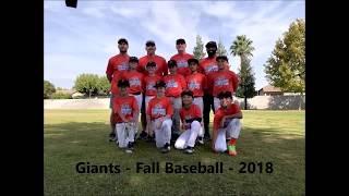 Giants vs As - Fall Baseball - Team Highlights - Oct 7, 2018