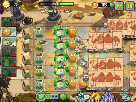 Plants vs Zombies 2 Antiguo Egipto Dia 18