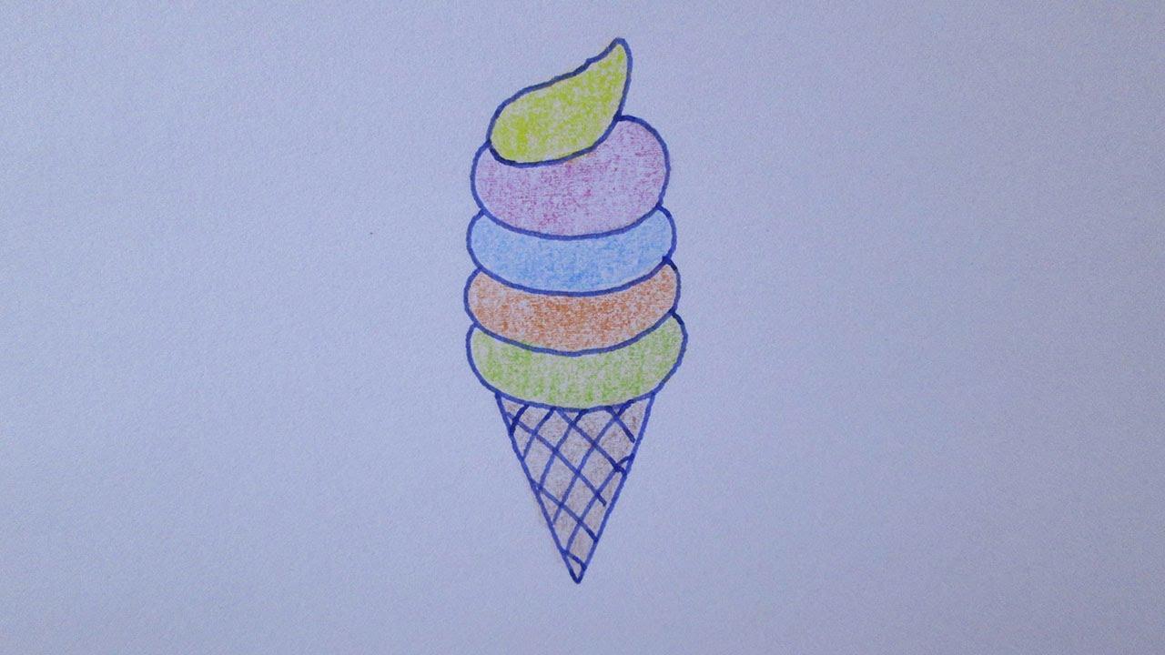 Como Desenhar Coisa Amorosa: Como Desenhar Um Sorvete