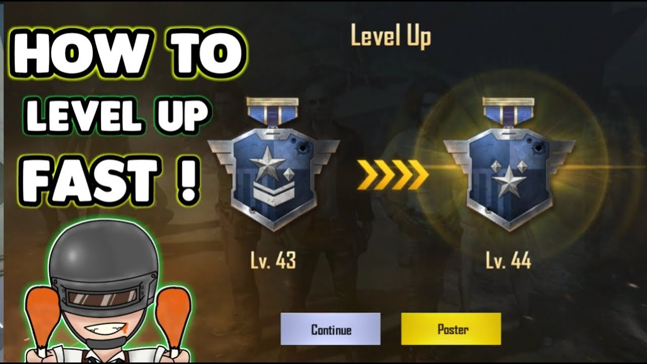 How To Level Up Fast in PUBG MOBILE !