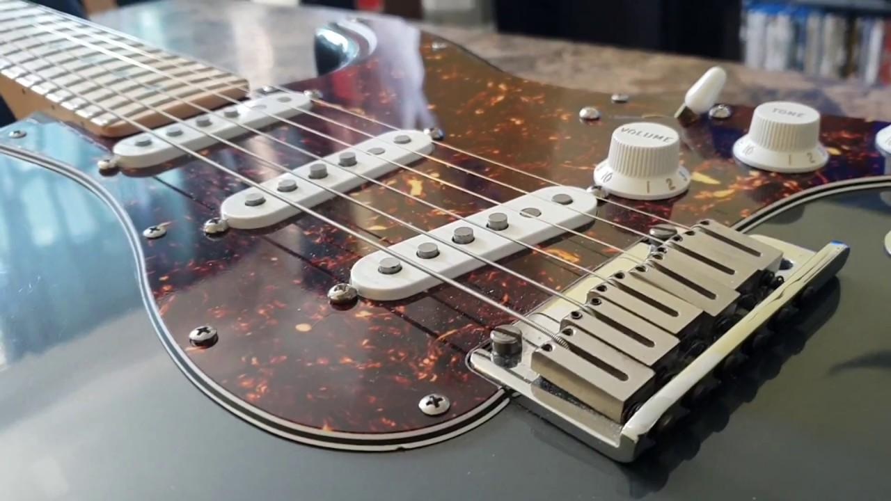 2007 fender american standard strat charcoal frost metallic stratocaster guitar up close review. Black Bedroom Furniture Sets. Home Design Ideas