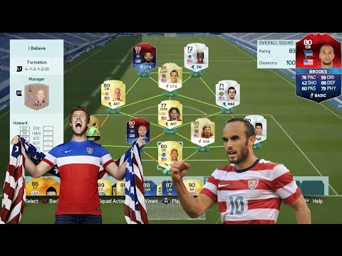 iMOTM BROOKS AND THE BEST POSSIBLE USA SQUAD! - FIFA 16 Squad Builder