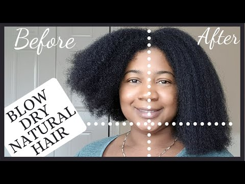 How To Blow Dry Natural Hair Safely | Lauren.NTN
