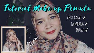 TUTORIAL MAKE UP UNTUK PEMULA || produk murah + gampang bgt!! || Annisa Martasari 🍒