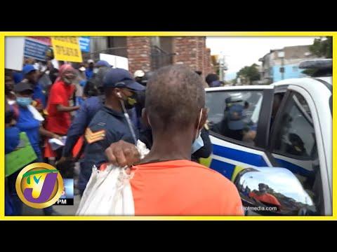 UIC President Arrested in Anti-Vax Protest in Kingston Jamaica | TVJ News - Sept 22 2021