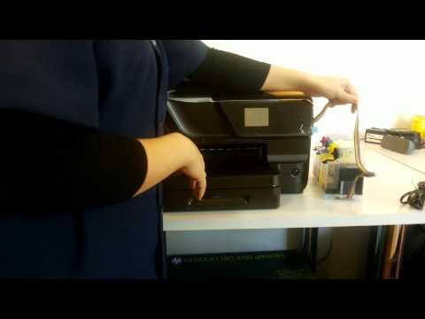 COMO USAR A IMPRESSORA HP OfficeJet Pro 8100/8600/251/276 - com BULK INK ...