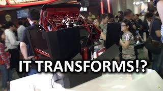 Most Individual Case at Computex 2015? - IN WIN H-Tower