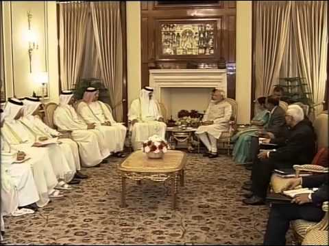 PM Modi meets Emir of Qatar, His Highness Sheikh Tamim Bin Hamad Al-Thani in New Delhi