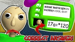 SOLVING THE THIRD QUESTION! | Baldi's Basics In Education And Learning (Anti-Impossible Mod)