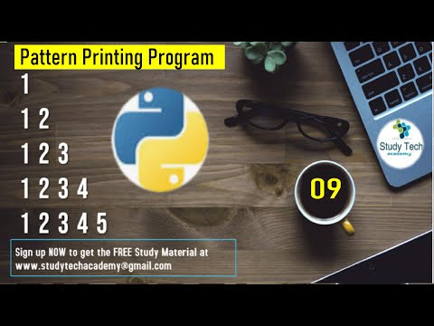 Python Tutorial for Beginners   Printing Patterns in Python   Study Tech thumbnail