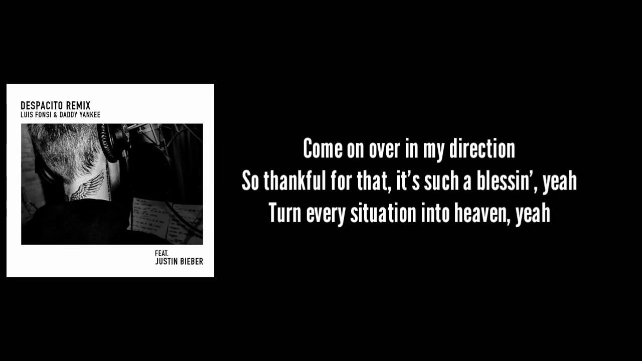 Luis Fonsi, Daddy Yankee - Despacito ft. Justin Bieber Lyrics ...