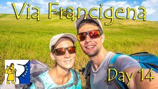 Town standing on Volcano | Final Day 14 of Via Francigena from Castiglioni d'Orcia to Radicofani