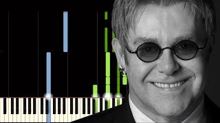 Elton John - Candle In The Wind - Synthesia Piano Tutorial [Easy]