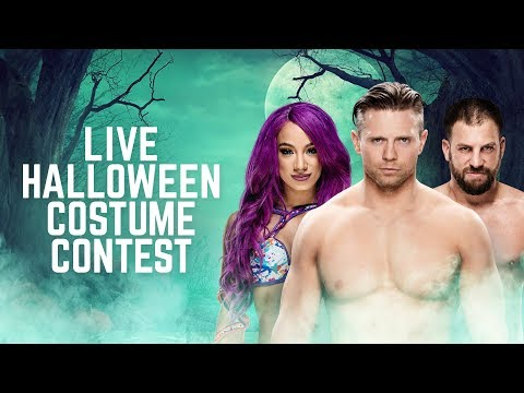 Sasha Banks, The Miz and Drew Gulak compete in a Halloween costume contest