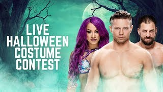 Get ready for a spooky costume contest as WWE Superstars Sasha Bank...