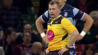 TMO Ian Davis calls up Nigel Owens for an obstruction charge. [Cardiff vs Ospreys '19]