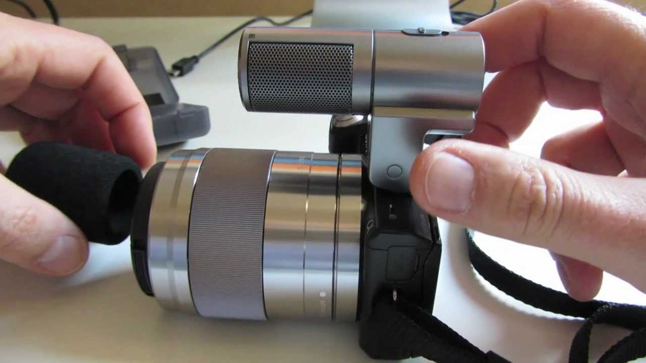 Feb 2, 2013. Review of the external microphone ecm-sst1 for nex cameras with the lens 50f18 the internal stereo mics have a clipping problem and they.