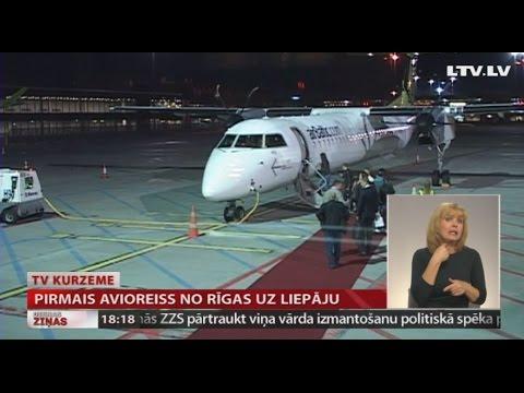 Pirmais avioreiss no Rīgas uz Liepāju