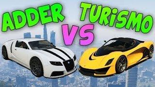 Turismo R VS Adder - Test de Velocidad - El Coche más Rápido de GTA V Online 1.11
