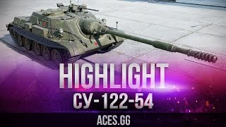 СУ-122-54 видео в World of Tanks и