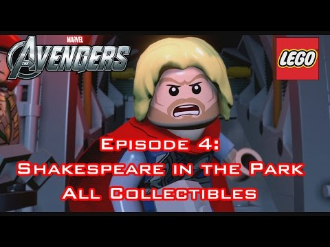 Lego Marvel's Avengers - ALL COLLECTIBLES: SHAKESPEARE IN THE PARK EPISODE 4